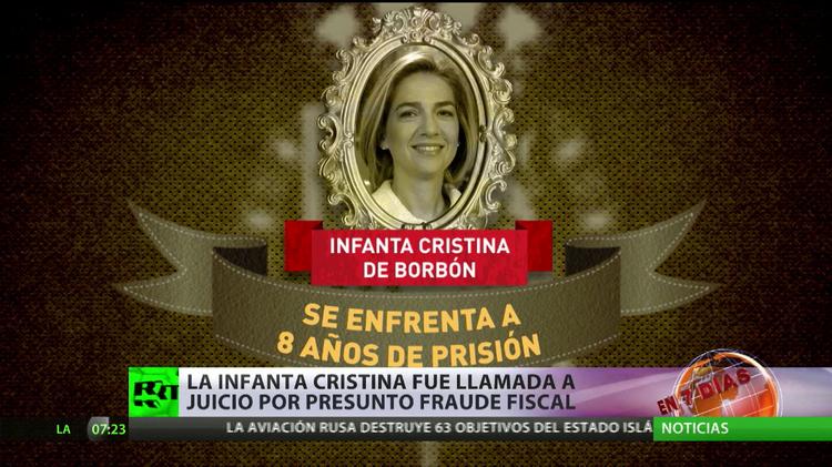 """España: """"Los órganos del Estado crean una valla de protección jurídica para salvar a la infanta"""""""