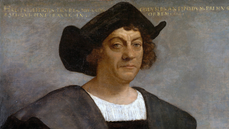 Retrato de un hombre que, se cree, es Cristóbal Colón.