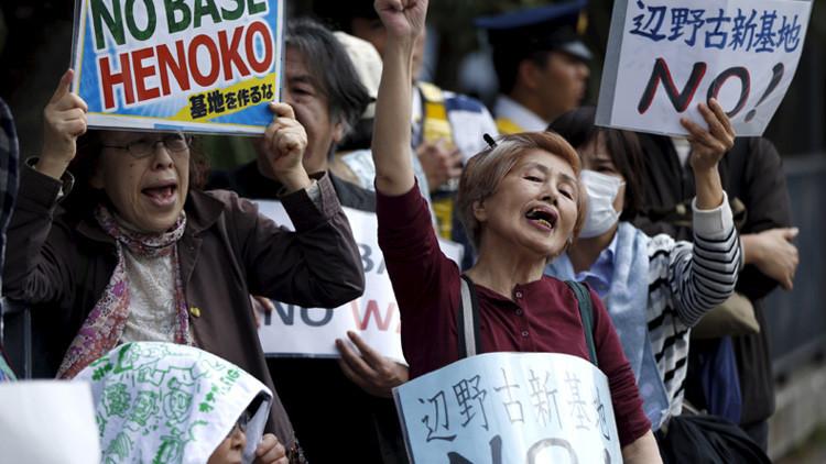 Okinawa dice un no firme a la base militar Futenma de Estados Unidos