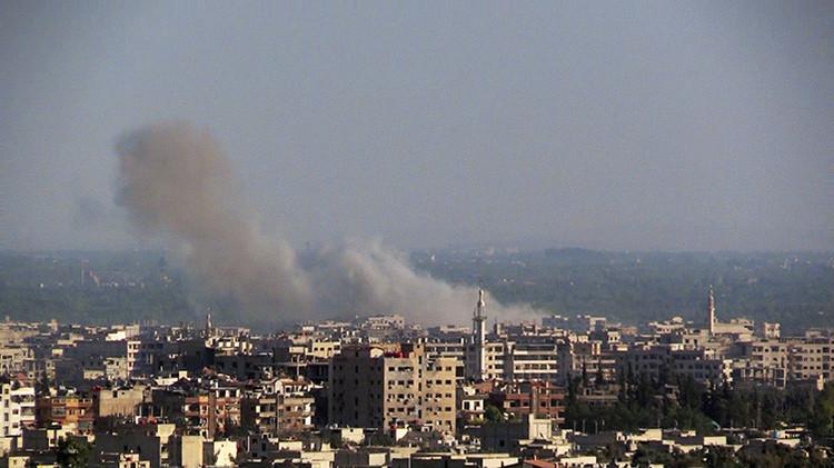 Dos proyectiles impactan en el territorio de la Embajada de Rusia en Damasco