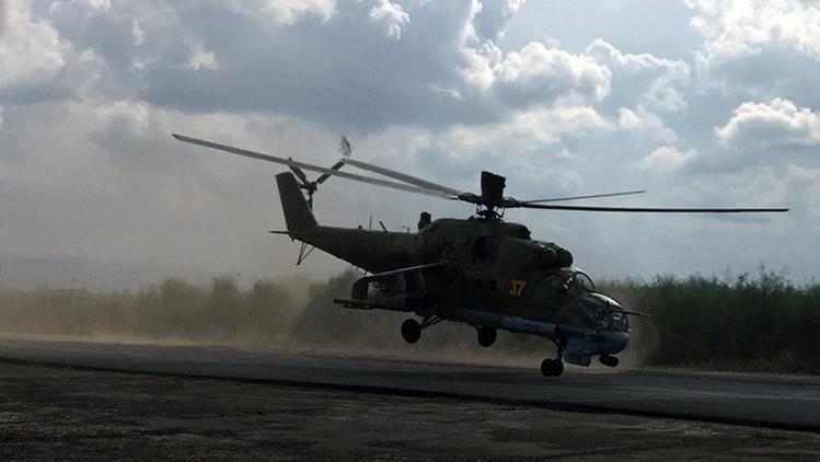 El Estado Islámico publica un video del ataque recibido de los helicópteros rusos Mi-24