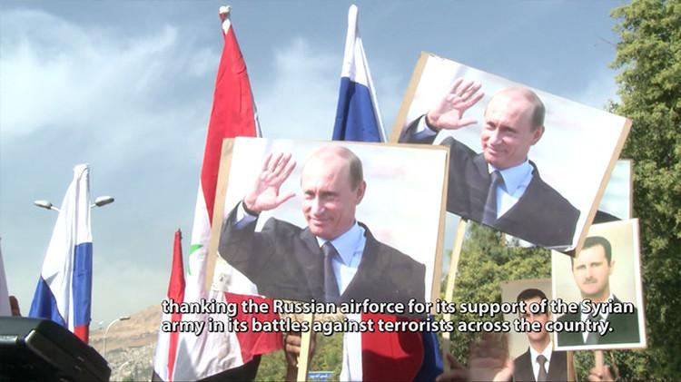 Video: Momento del impacto de proyectiles cerca de la Embajada de Rusia en Damasco