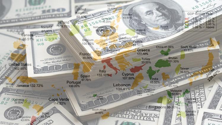 Infografía: ¿Cuál es la deuda de los países en comparación con su PIB?
