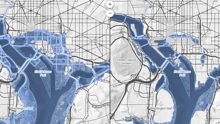 Un mapa interactivo muestra cómo ciudades de EE.UU. quedarán sumergidas bajo el agua