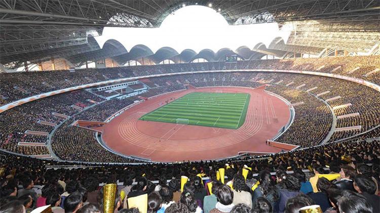 Fotos: visiten el interior del estadio más grande del mundo en Corea del Norte