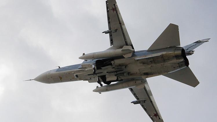 Ministerio de Defensa: Aviones rusos Su-24M bombardean plantas de fabricación de explosivos del EI