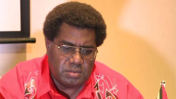 El presidente del Parlamento de Vanuatu, Marcellino Pipite