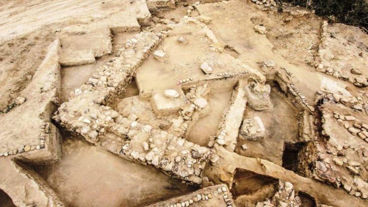 El lugar de las excavaciones.