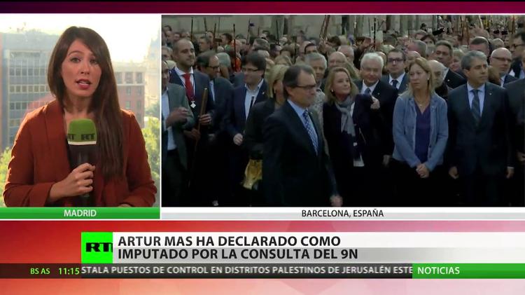 Artur Mas ha declarado como imputado por la consulta del 9N