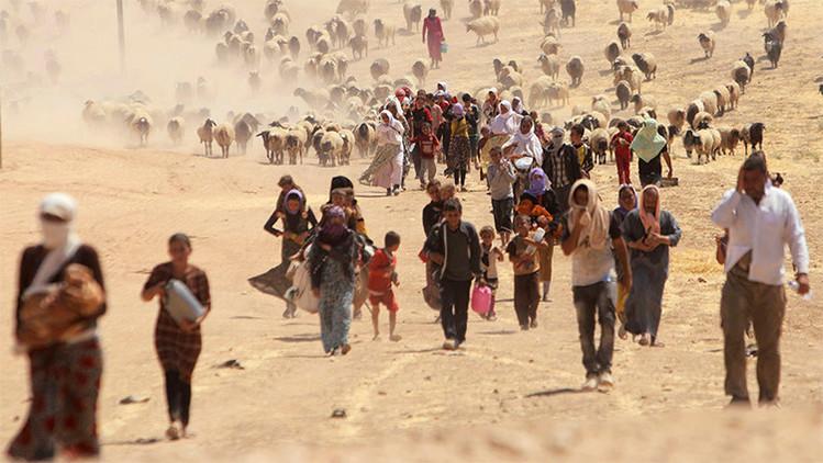 """""""Los golpes de la coalición de EE.UU. sobre objetivos pacíficos aumentan los refugiados a Europa"""""""