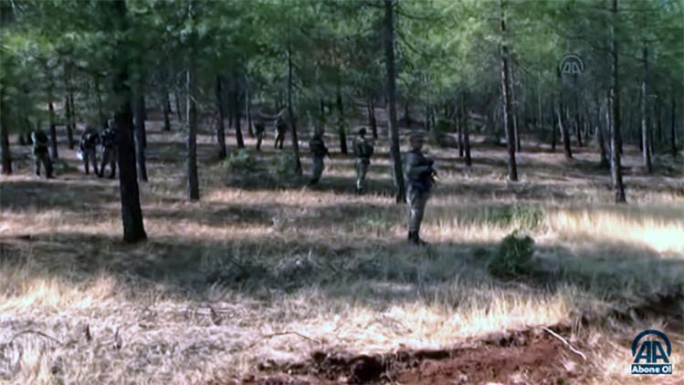 Difunden un video del lugar donde cayó el dron derribado por cazas turcos