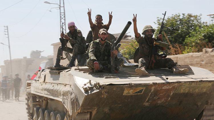 El Ejército sirio entra en una ciudad en la provincia de Hama