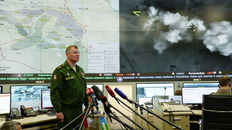 El portavoz del Ministerio ruso de Defensa, el general mayor Ígor Konashénkov