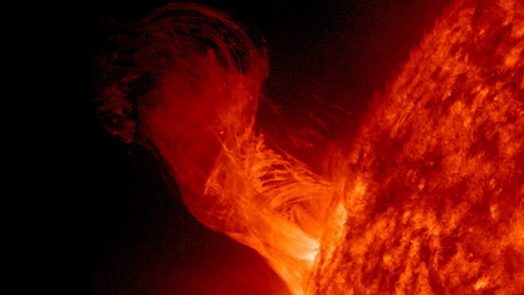 Video: Poderosa erupción solar captada por la NASA
