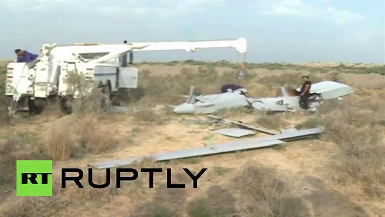 Imágenes en el desierto de Irak de un dron estrellado... ¿de EE.UU.?