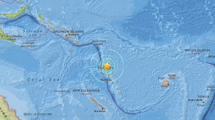 Terremoto de magnitud 7,1 sacude Vanuatu