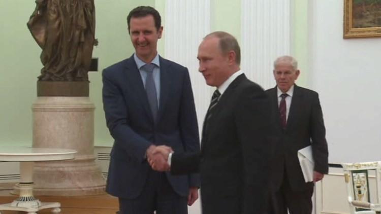El presidente sirio Al Assad visita Moscú para realizar negociaciones con Vladímir Putin