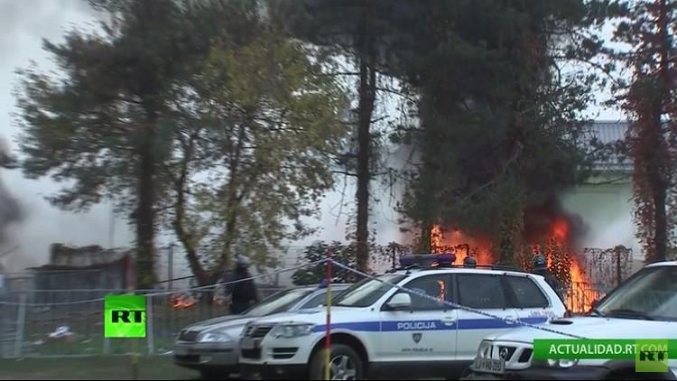 Se declara un incendio en un campo de refugiados de Eslovenia