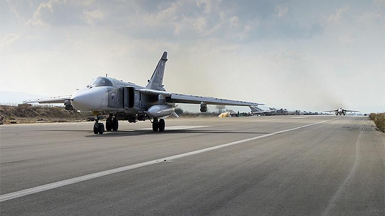 Vuelos de la aviación rusa desde la base siria de Jmeimim
