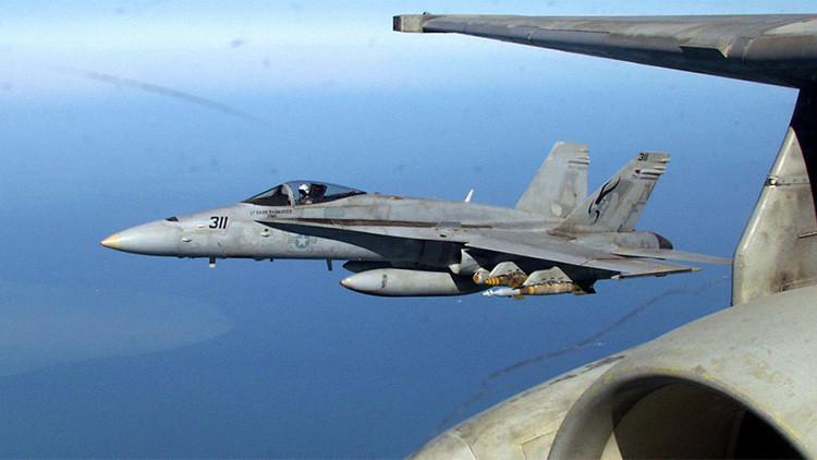 Se estrella un cazabombardero estadounidense FA-18 en el Reino Unido