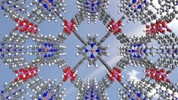 Estructuras moleculares. Foto de la Universidad de Reading, Reino Unido.