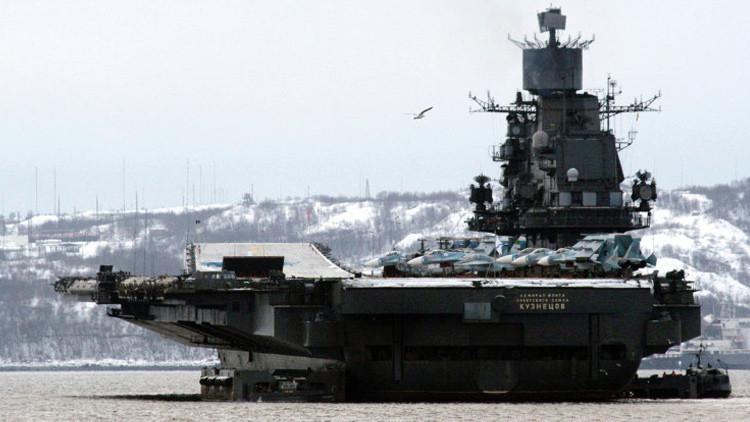 Crucero portaaviones ruso ensaya un ataque en el mar de Bárents con un sistema de misiles antiaéreo