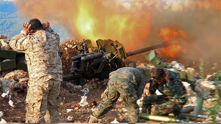 Posiciones del ejército sirio en la provincia de Alepo