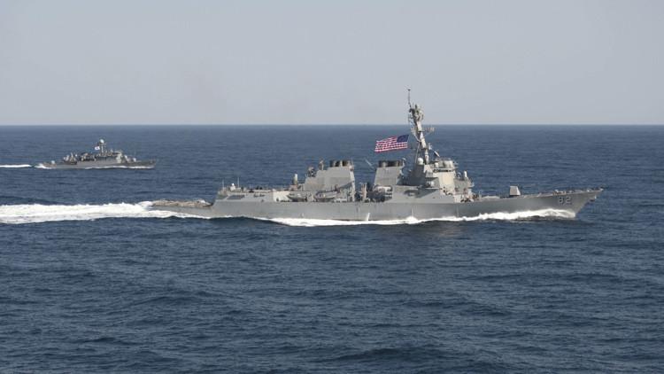 Los buques de guerra chinos advirtieron al destructor estadounidense USS Lassen