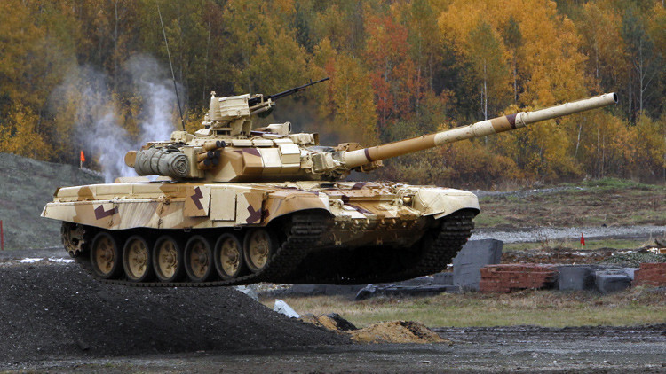 El carro de combate ruso T-90S durante una muestra en la feria Russia Arms Expo en Nizhni Taguil