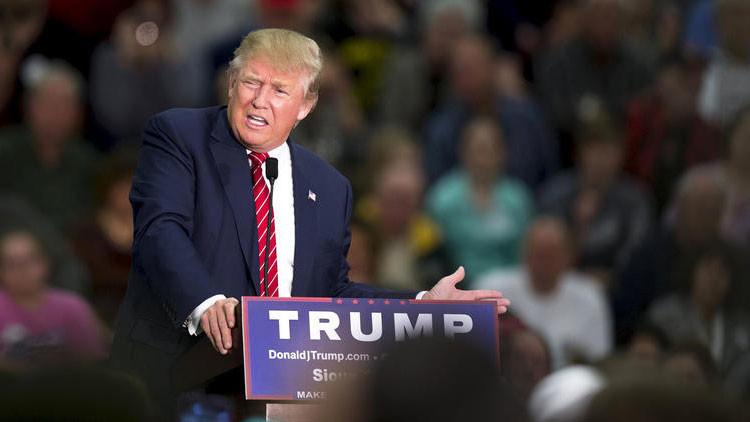 El candidato presidencial republicano de EE.UU., Donald Trump