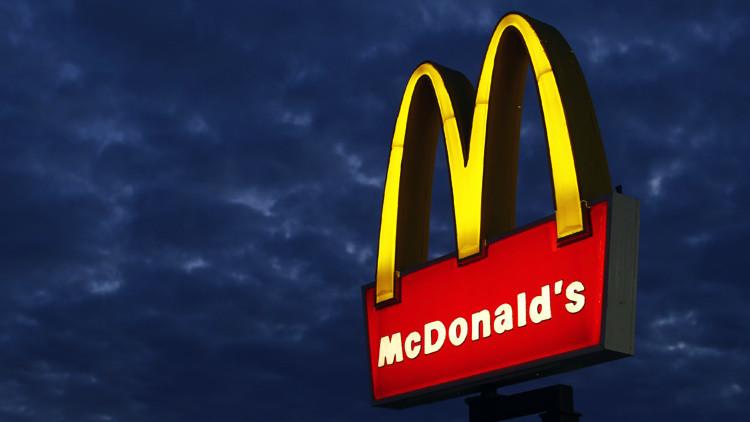 Un restaurante de McDonald's representado en Encinitas, California