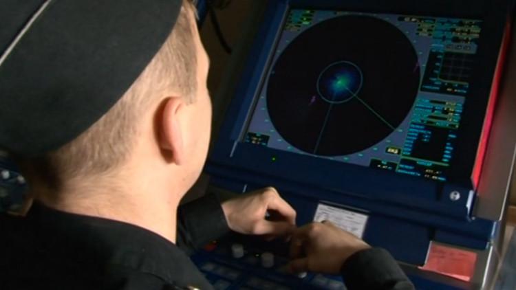 Fragata Admiral Grigoróvich durante las pruebas