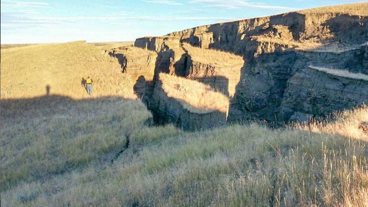 La grieta que se abrió en las montañas Bighorn