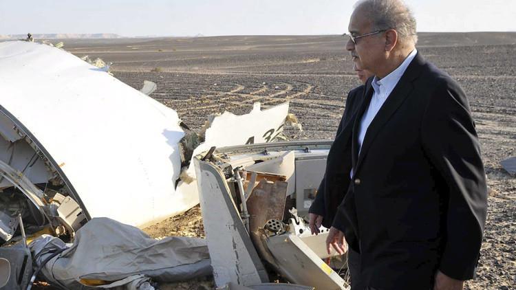 Publican las primeras fotos desde el lugar del siniestro del avión ruso en Egipto