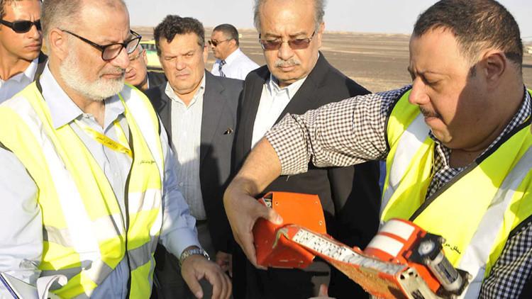 Hallan las cajas negras del avión ruso accidentado en Egipto
