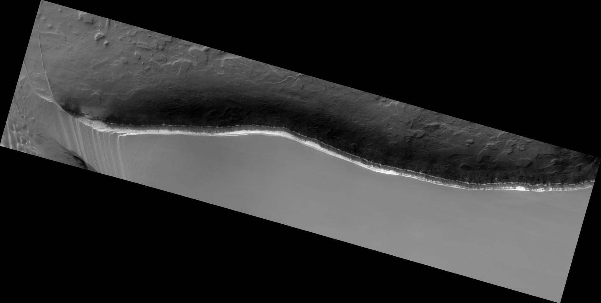 Una avalancha de dióxido de carbono en Marte