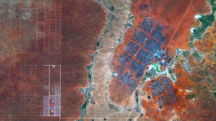 Los campos de refugiados de Dadaab, Kenia, imagen de satélite