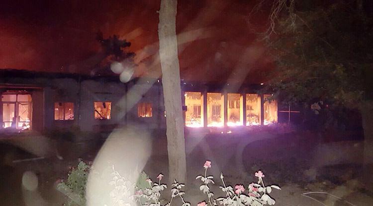 El hospital de Médicos Sin Fronteras en Kunduz, en llamas