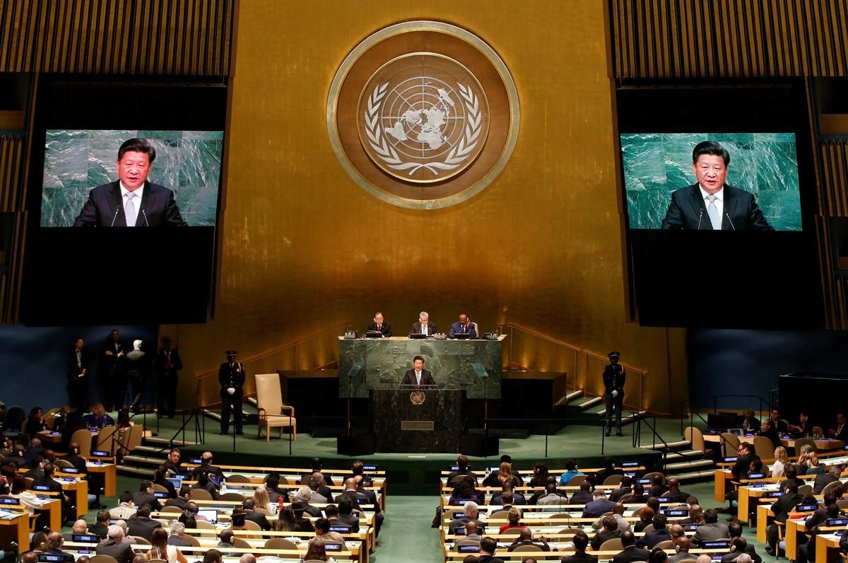 El presidente chino, Xi Jinping, pronuncia un discurso en la Asamblea General de la ONU