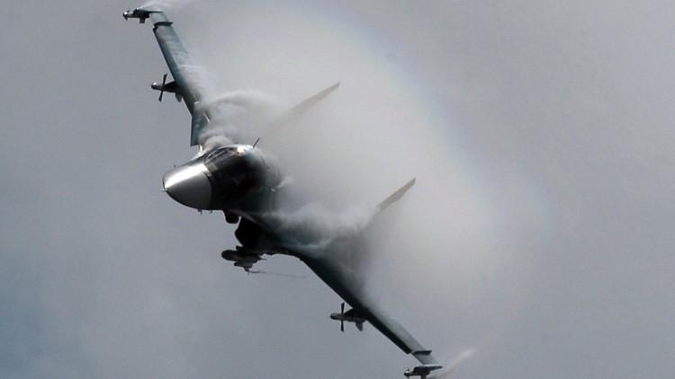 Un avión Su-34 ruso
