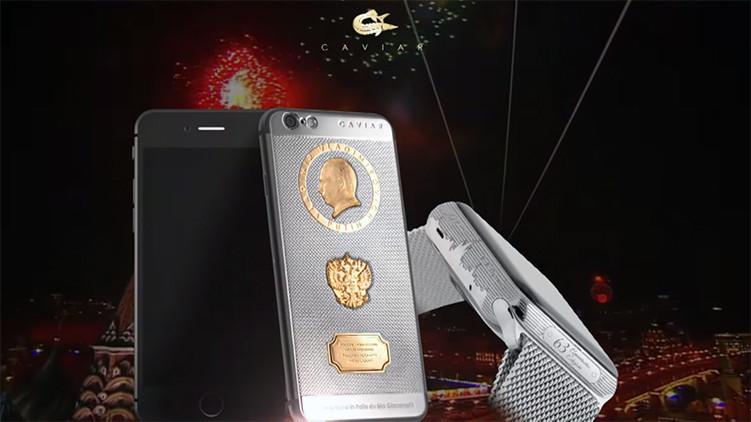 El iPhone 6S de titanio exclusivamente para el cumpleaños del presidente ruso Vladímir Putin