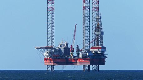Una plataforma de perforación de Lukoil en el mar Báltico