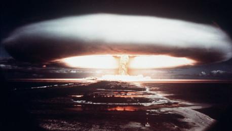 Las pruebas de las armas nucleares en el atolón Mururoa, en el año 1971