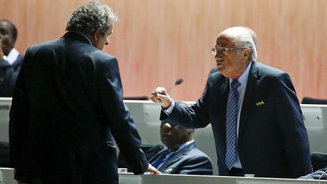 Michel Platini y Joseph Blatter