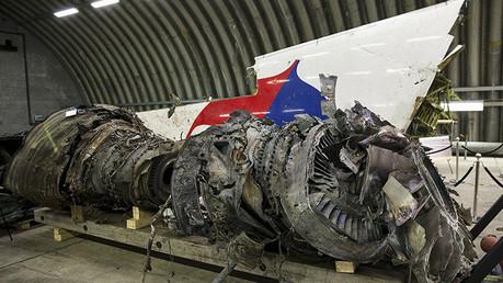 Restos del Boeing 777 de Malaysia Airlines siniestrado en julio de 2014 en el este de Ucrania