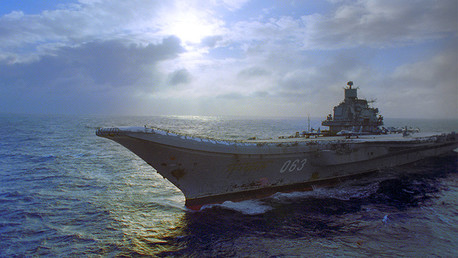 Crucero-portaaviones Admiral Kuznetsov de la Flota del Norte rusa