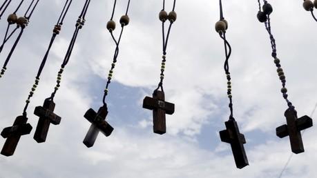 Rosarios del Cristo Negro de Portobello, en la provincia de Colón, Panamá.