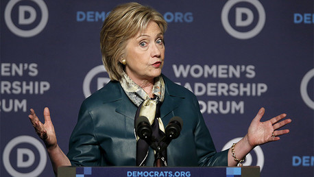 Hillary Clinton interviene en un evento del partido Demócrata en Washington. 23 de Octubre de 2015
