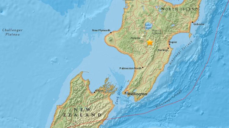 Un sismo de magnitud 5,4 sacude Nueva Zelanda