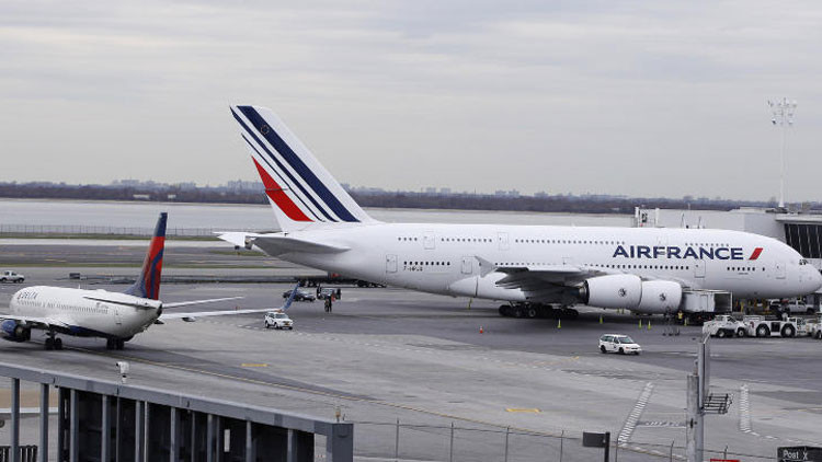 Un avión Airbus A380 de Air France